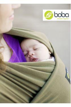 Трикотажный слинг шарф Boba Wrap расцветка  Dark Green