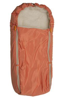 Конверт в коляску меховой оранжевый