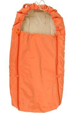 Конверт в коляску флисовый оранжевый