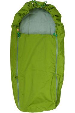 Конверт в коляску флисовый зеленый