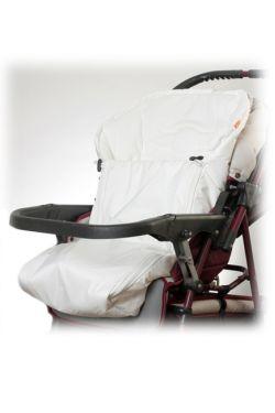 Конверт в коляску флисовый белый