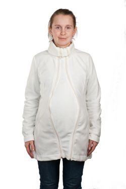 Слингокуртка флисовая «Мама Плюс» - молочная