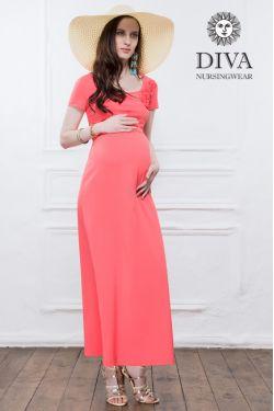 Платье для беременных и кормящих Diva Nursingwear Dalia, цвет Corallo