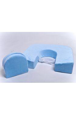 Подушка для кормления «Milk Rivers Twins» голубая