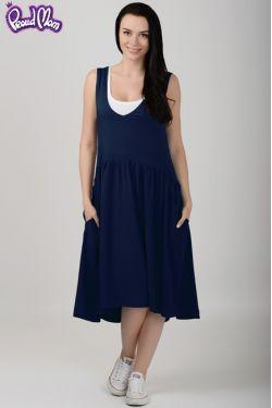 """Платье """"Гербера"""" темно-синее"""
