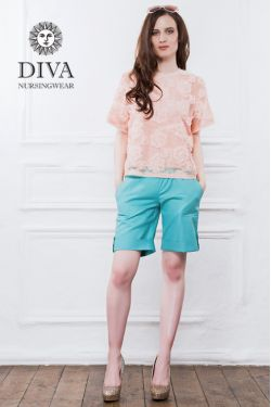 Шорты для беременных Diva Nursingwear Deborah, Menta