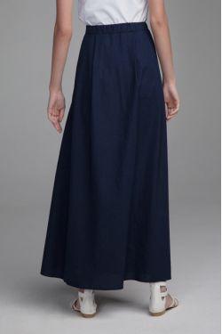 Юбка Бабье лето для беременных темно-синяя
