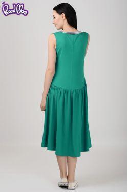 """Платье для кормящих мам  """"Гербера"""" зеленое"""