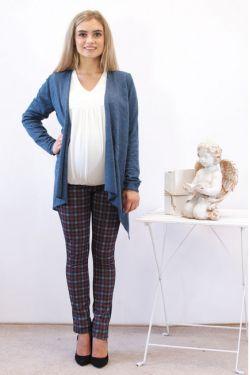 Кардиган для беременных Адель синий меланж