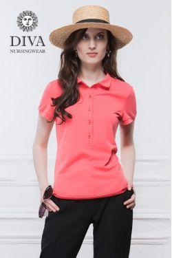 Футболка Diva Nursingwear Polo, цвет Corallo