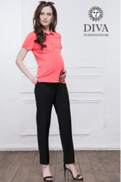 Футболка для кормления Diva Nursingwear Polo, цвет Corallo