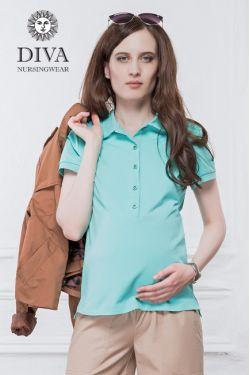 Футболка Diva Nursingwear Polo, цвет Menta