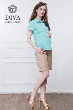 Футболка для кормления Diva Nursingwear Polo, цвет Menta