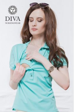Футболка для беременных Diva Nursingwear Polo, цвет Menta