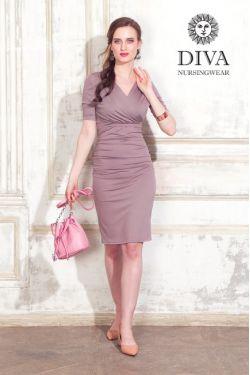 Платье для беременных и кормящих Diva Nursingwear Lucia, цвет Cacao