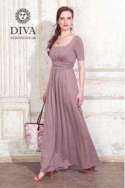 Платье для беременных и кормящих Diva Nursingwear Stella Maxi, Cacao