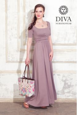 Платье для беременных Diva Nursingwear Stella Maxi, Cacao