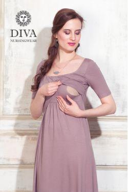 Платье для кормящих Diva Nursingwear Stella Maxi, Cacao