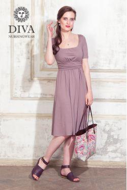 Платье для беременных и кормящих Diva Nursingwear Stella, Cacao