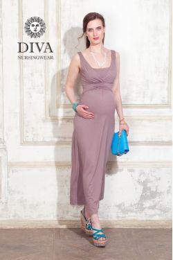 Сарафан для беременных Diva Nursingwear Alba Maxi, Cacao