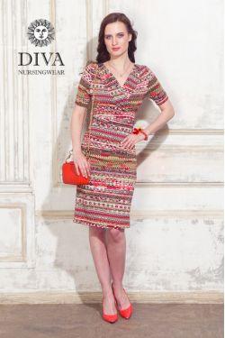 Платье для беременных и кормящих Diva Nursingwear Lucia, цвет Etna