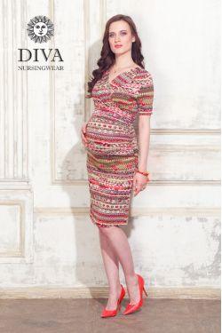 Платье для беременных Diva Nursingwear Lucia, цвет Etna