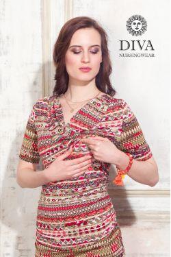 Платье для кормящих Diva Nursingwear Lucia, цвет Etna