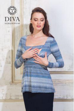 Блуза для кормящих и беременных Diva Nursingwear Alba, принт Iceberg