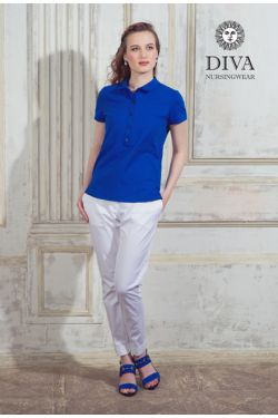 Поло Diva Nursingwear Polo, цвет Azzurro