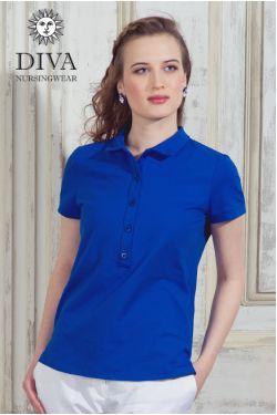 Футболка Diva Nursingwear Polo, цвет Azzurro