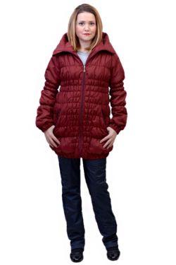 Зимняя куртка для беременных Майя бордо