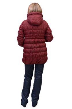 Куртка для беременных майя бордовая