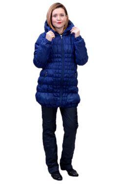 Зимняя куртка для беременных Майя синяя