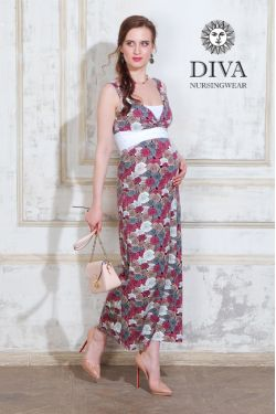 Сарафан для беременных Diva Nursingwear Alba Maxi, Rose