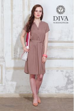Платье для беременных и кормящих Diva Nursingwear Gemma, цвет Мока