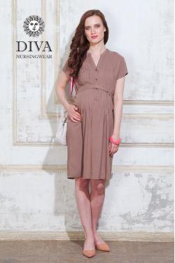 Платье для беременных Diva Nursingwear Gemma, цвет Мока