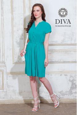 Платье для беременных и кормящих Diva Nursingwear Gemma, цвет Smeraldo