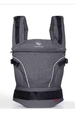 Слинг-рюкзак Manduca PureCotton dark grey (серый)
