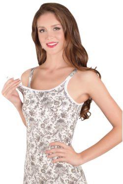 Ночная сорочка для кормления Mamaline серые узоры