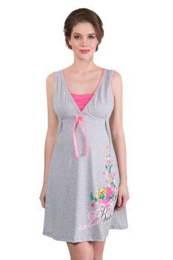 Ночная сорочка для беременных и кормления 503-02