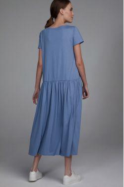 """Платье """"Астра"""" голубое для беременных и кормящих"""
