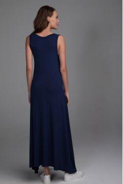 """Платье """"Ласточка"""" темно-синее для беременных и кормящих"""