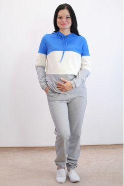 Спортивный костюм для беременных с голубым
