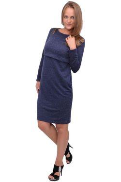 Платье для кормления Л083 т.синий