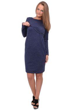 Платье для кормящих Л083 т.синий