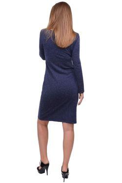 Платье для кормящих мам Л083 т.синий