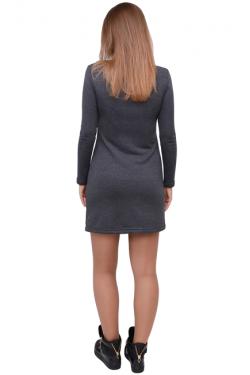 Платье для кормления мам Л083 т.серый меланж