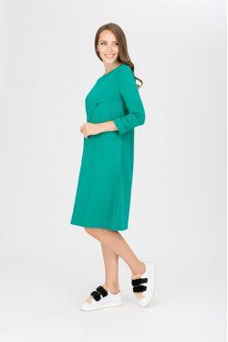 """платье """"Богема"""" малахит для будущих и кормящих мам"""