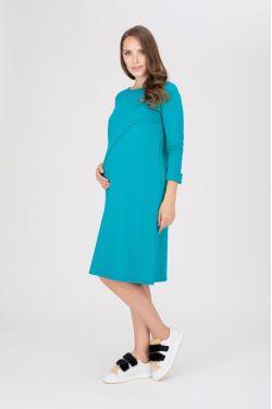"""платье """"Богема""""лазурь для будущих и кормящих мам"""