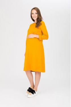 """платье """"Богема"""" горчичное для будущих и кормящих мам"""